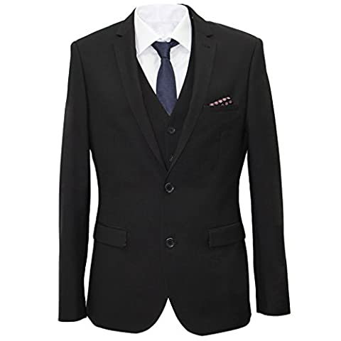 Carter & Jones Black Big & Tall 3 Piece Tailored