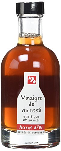 Accent d'Oc Vinaigre de Vin Rosé à la Figue et au Miel 20 cl - Lot de 2