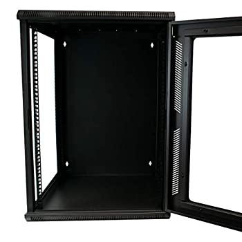 I-CHOOSE LIMITED 15U 19-inch Wallmounting Rack Data Cabinet Lockable Glass Door Mounting 600mm Deep KAUDEN