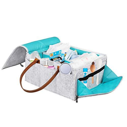 Dadahuam Babywindel Caddy Organizer Folding Lagerplatz Für Wickeltisch Tote Bag Tragbare Auto Reisekorb