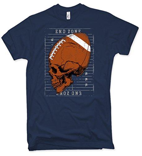 Football Skull T-Shirt Oldschool Totenkopf American Gr. S-XXL