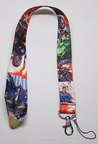 Lusso personaggi DC Comics Justice League super Heroes LanYard mobile phone charm Holder