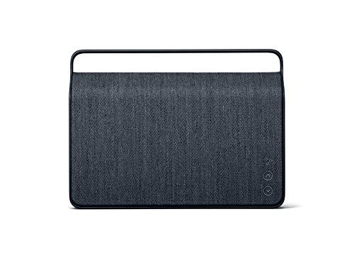 Vifa Copenhagen 2.0 - WiFi & Bluetooth Lautsprecher | tragbare, kabellose Musikbox | Preisgekröntes Skandinavisches Design | Individuelles Ein-Klick Klangerlebnis - Bergblau (Wifi Lautsprecher Bluetooth)