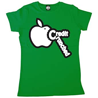 Batch1 Women's Credit Crunched Printed T-Shirt, Green - S