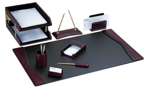 Burgund Akzente (dacasso modernes Schreibtisch-Set, Burgund, 10-tlg.)