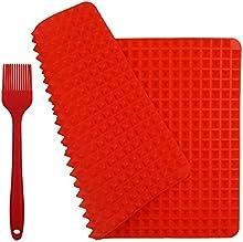 zesgood antiadherente saludable rojo silicona Cocinar Hornear Mat en tamaño 15.8