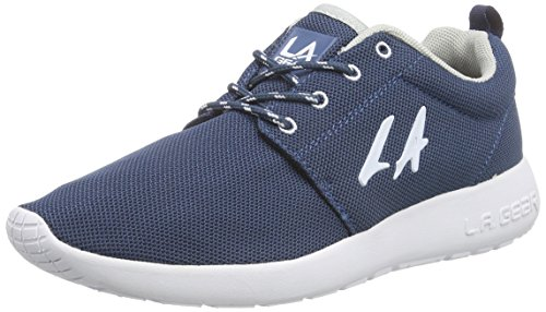 L.A. Gear Sunrise, Low-Top Sneaker donna, Blu (Blau (Navy-White 04)), 40