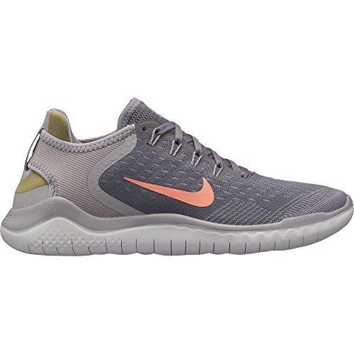 Nike Damen Laufschuh Free Run 2018, Grau (Gunsmoke/Crimson Pul 005), 42.5 EU