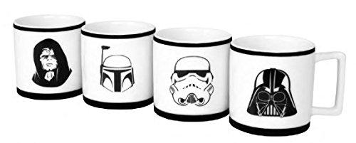 Star Wars Porzellan Espresso Becher-Set, 4 Stück