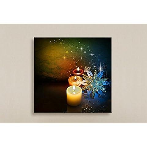 XYXY Babbo Natale pittura decorativa LED affreschi fibra disegno festivo paesaggio pittura decorativa . a . 40*50
