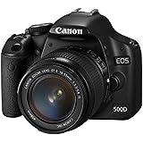 Canon 500D + EF-S 18-55mm Appareil Photo Numérique Compact 15.1 Mpix Noir (Reconditionné Certifié)