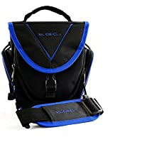 TGC ® Easy Access SLR Camera Case for Panasonic Lumix DMC-FZ70, DMC-FZ72 Plus Accessories (Black with Dreamy Blue Trim/Lining)
