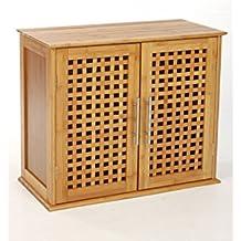 Mobile da fissare al muro 2porte in bambù