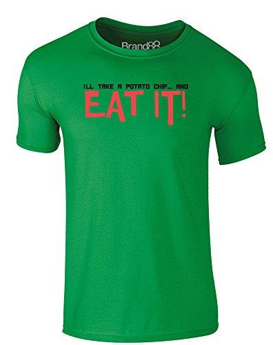 Brand88 - Potato Chip, Erwachsene Gedrucktes T-Shirt Grün/Schwarz
