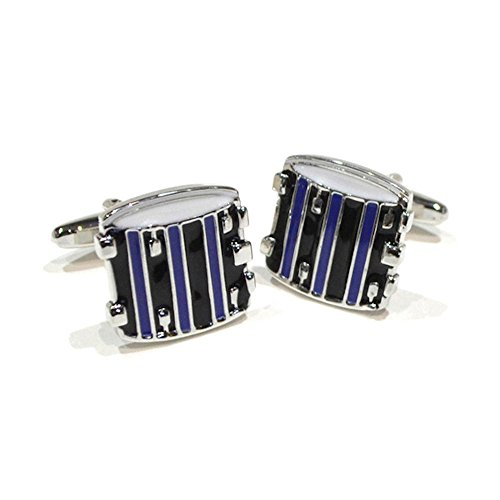 blue-and-black-snare-side-drum-cufflinks-music-themed-cuff-links-gift-boxed