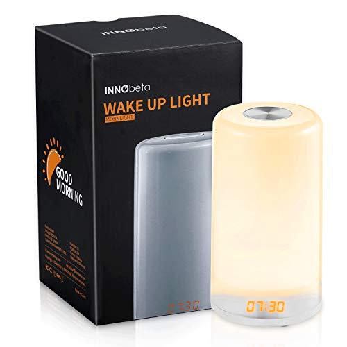 Réveil Lumineux Simulateur D'aube, Réveil reveil matin avec Simulation du Lever Soleil, Lampe de...