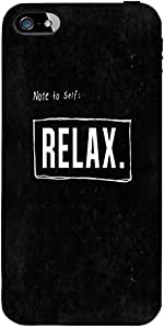 Snoogg Note To Self : Relax Designer Protective Back Case Cover Forforapple I...