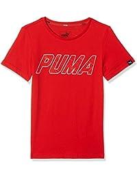 Puma Niños Style Graphic tee Camiseta, Infantil, Style Graphic tee, Rojo Escarlata,