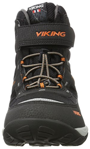 Viking Sludd Elastic/Velcro, Baskets Hautes Mixte Adulte Schwarz (Black/Orange)