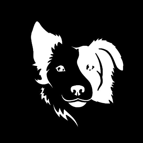 NKCTF Auto Aufkleber Border Collie Tier reflektierende Cartoon Kratzer Aufkleber (Color : White)