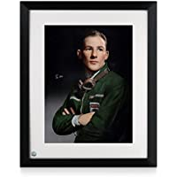Foto von Stirling Moss unterzeichnet. Eingerahmt
