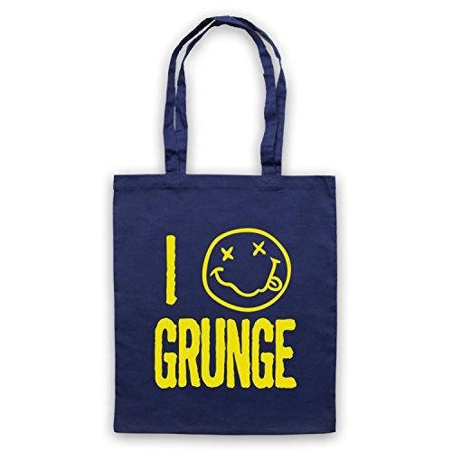 I Love Grunge Slogan Style Umhangetaschen Ultramarinblau