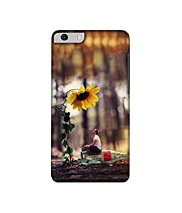 Casotec Man on Bottle Under Flower 3D Printed Hard Back Case Cover for Micromax Canvas Knight 2 E471