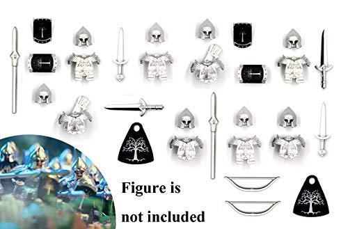 MAGMA BRICK Lego-kompatibles Gondor Soldatenkrafttorso-Figur mit Kriegsausrüstung, (Freie 6 Figur)