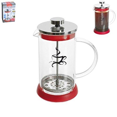 Kaffeezubereiter Kaffeepresse 350ml 0,35 L Orion rot