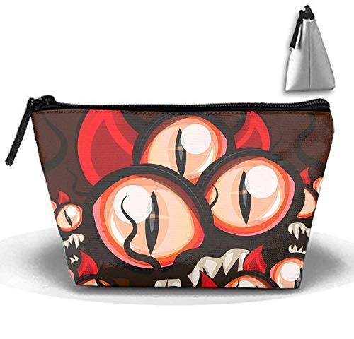 Kosmetiktaschen Reise tragbare Make-up Tasche Halloween Augen Clutch Bag mit Reißverschluss