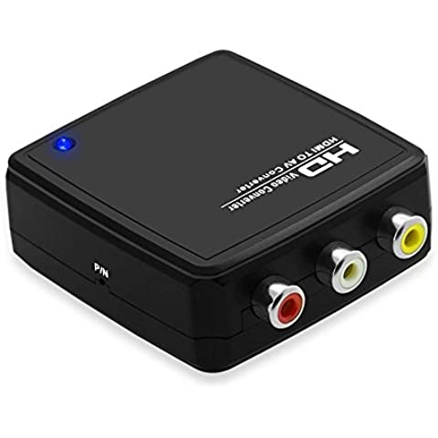 Top-Longer 1080P HDMI Digital Signal to AV Composite 3 RCA CVBS Video Audio Convert an HDMI Signal with Supporting Audio to Work with Composite Video Televisions and Displays