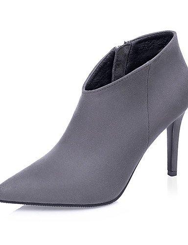 ShangYi Mode Damenschuhe Stiefel fallen die Springerstiefel / Schuhe / Geschlossen Toe Pumps Kleid Stilettabsatz Reißverschluss weitere Farben zur Verfügung. Grau