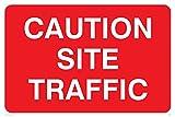 Verboten Hinweisschild: Vorsicht Seite Traffic-nur Text (Größe: 600x 400Material: selbstklebend Vinyl-Zeichen)