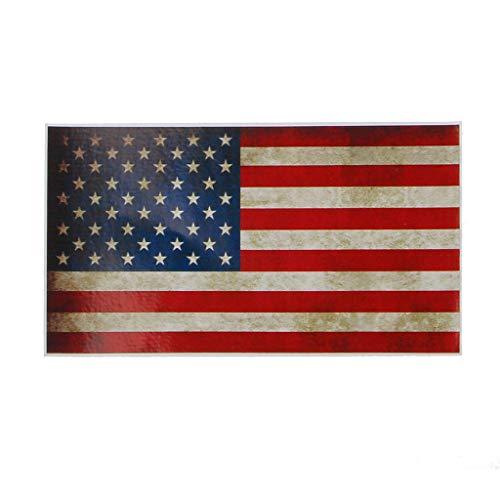 Xuniu Auto Aufkleber, American Vintage US Flag Auto Motorrad Vinyl Stoßstange Aufkleber Aufkleber
