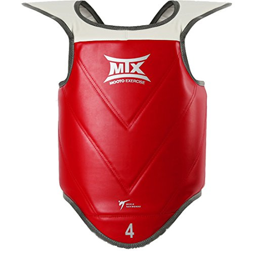Mooto Taekwondo MTX Reversible Brustprotektoren M (Länge 66.5cm oder 26.1ft) Rot blau