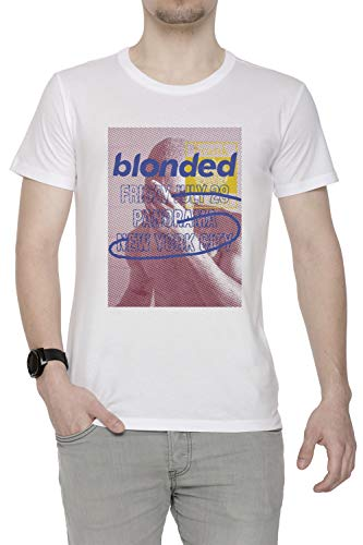 99e543f0b46f Erido Blonded Panorama Uomo Girocollo T-Shirt Bianco Maniche Corte  Dimensioni M Men s White T