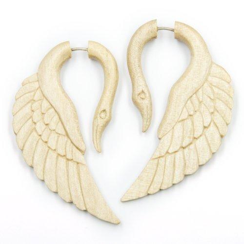 orecchini-fake-piercing-cigno-gioielli-legno-bianco-lunghezza-6-cm-chiusura-in-argento-sterling-copp