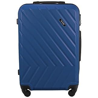 Travelite QUICK 4-Rad Trolley S, Traubenblau, 72847-25 Equipaje de mano, 55 cm, 37 liters, Azul (Taubenblau)