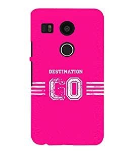 Fuson Designer Back Case Cover for Nexus5X (Destination Go Design :: Go anywhere :: Baby pink design :: Stylish dark pink color design :: Cherry blossom pink design wallpaper :: Shades of Pink)