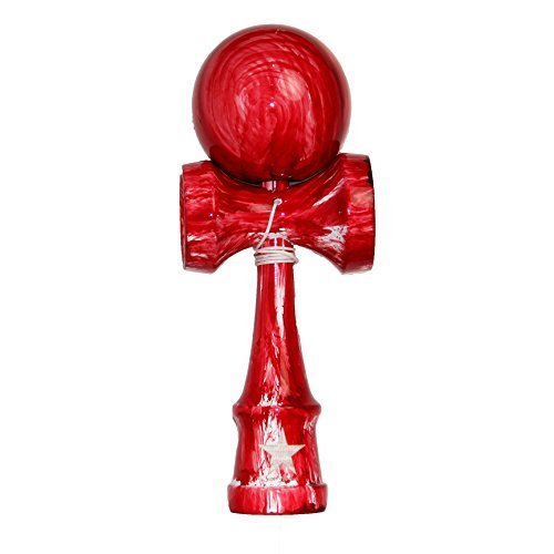 Red White Washed Shinny Super Kendama, Super Sticky, Japanese Wooden Toy, Free String, USA Seller by Super Kendama
