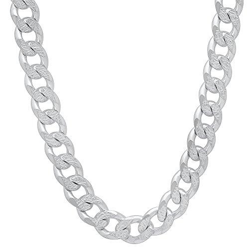 8mm-solid-925-sterling-silver-diamond-cut-cuban-curb-link-chain-50-cm