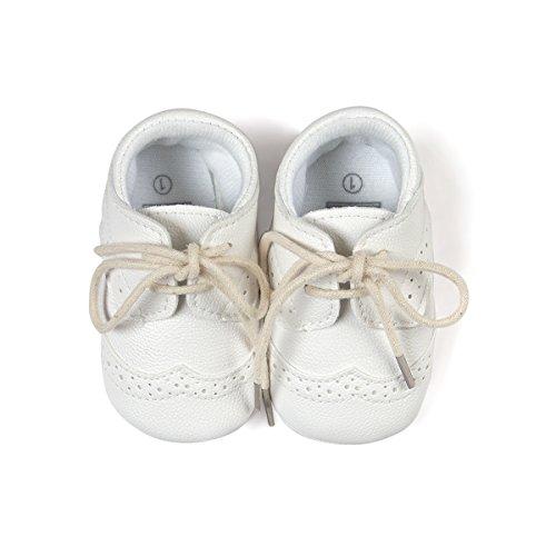 Etrack-Online Baby-/Jungen-Schuhe, Turnschuhe/Sneaker, zum Schnüren, schwarz - Burnish Black - Größe: 0-6 Monate weiß