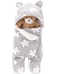 ARAUS Saco De Dormir Para Bebé Piernas Separadas Peleles Manta Arrullo Gruesa Recién Nacido