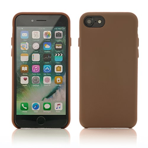 iProtect Kunstleder Schutzhülle Apple iPhone 7, iPhone 8 flexibles Case in Beige Braun