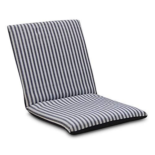 Liuyune,lounger del cuscino di sede del sofà di riposo regolabile regolabile della poltrona di pavimento pieghevole(color:nero)