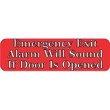 """10""""x 3"""" salida de emergencia alarma negocio para tienda cartel adhesivo adhesivos pegatinas"""