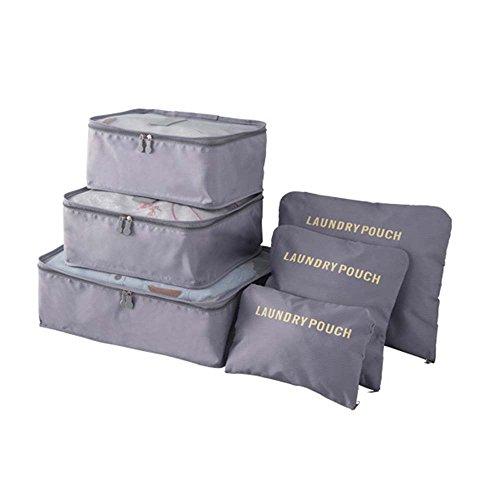 Urijk - Juego 6bolsas de viaje para organizar el equipaje: bolsas im