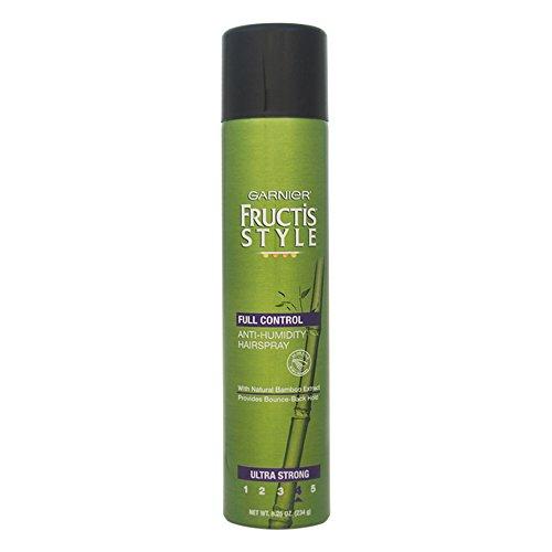 Garnier Laque aérosol résistante à l'humidité Fructis Style Full Control - Tenue ultra forte - Enrichie en extraits de bambou - 234 g