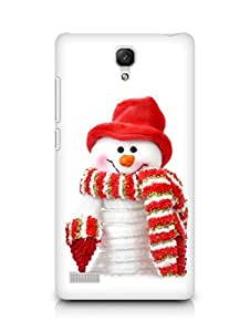 Amez designer printed 3d premium high quality back case cover for Xiaomi Redmi Note (Snow Man 2)