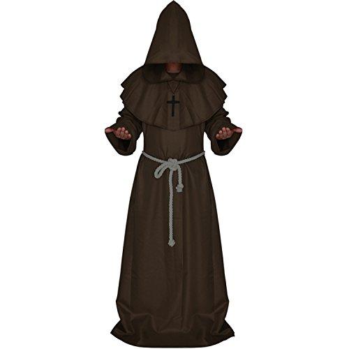 Halloween kostüm Kleidung Damen Herren Priester Kirchenvater costumes / cosplay - Braun (Braun Herr Halloween Kostüme)